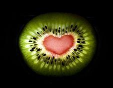 Free Kivi Heart Royalty Free Stock Photos - 7873068