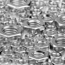 Free Hex Nuts Background Stock Image - 7873211