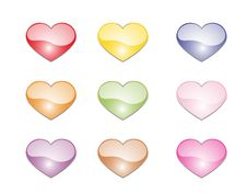 Free Color Hearts Stock Images - 7874134