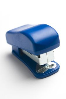 Free Blue Stapler On White Background. Stock Photography - 7874522