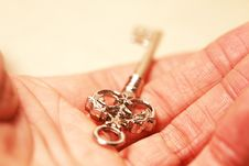 Golden Key In Hand Royalty Free Stock Photo