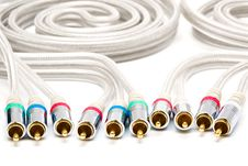 Video And Audio Cable Stock Photo