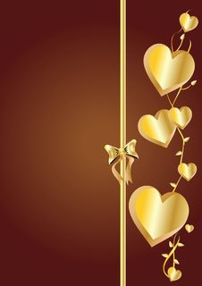 Free Golden Hearts Royalty Free Stock Image - 7874866