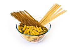 Colorful Noodles In A Bowl Royalty Free Stock Image