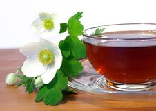 Free Bouquet Of Spring Flowers And Tea Stock Image - 7875171