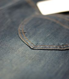 BACK POCKET OF A JEAN Stock Image
