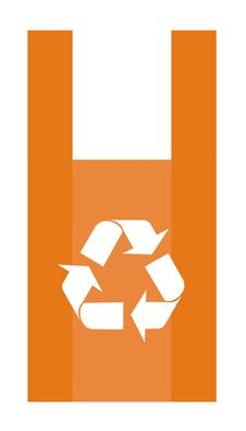 Free Recycling Symbol In A Red Shopping Bag Stock Photos - 7875323