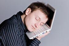 Free Sleeping Laptop Boy Royalty Free Stock Photography - 7875787