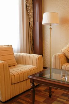 Free Floor Lamp And Armchair Stock Image - 7876091