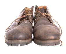 Pair Of Old Worn Boots Stock Photo