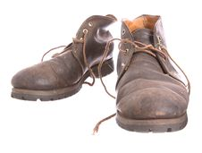 Pair Of Old Worn Boots Royalty Free Stock Photos