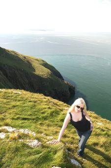 Free Lady On The Cliffs Stock Photos - 7876403