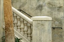 Marbled Stone Railings Royalty Free Stock Images