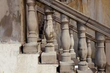Marbled Stone Railings Stock Photos