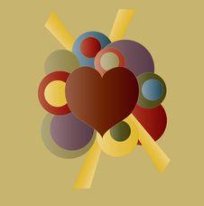 Free Retro Heart Valentine Design Stock Images - 7877264