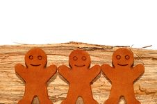 Free Gingerbread Men Royalty Free Stock Photo - 7877565