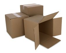 Free Cardboard Boxes With Path Royalty Free Stock Photography - 7877797