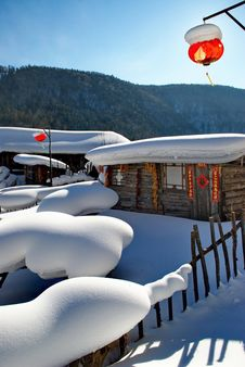 Free Cabin In Snow Stock Photo - 7878070