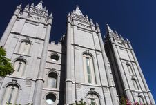 Mormon Temple Royalty Free Stock Photography