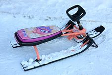 Free Child S Sledges. Royalty Free Stock Photos - 7878568