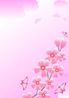 Free Cherry And Butterflies Royalty Free Stock Image - 7879906