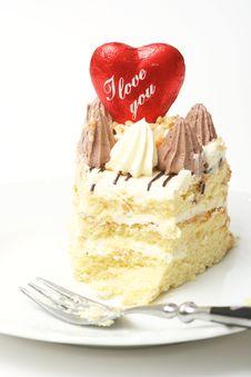 Free Valentine Cake Royalty Free Stock Image - 7879936
