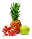 Free Fresh Pineapple, Pomegranate And Apple Royalty Free Stock Photo - 7883255