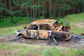 Free Burnt Out Car Stock Photo - 7888560