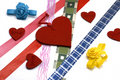 Free Hearts And Colours Ribbons Stock Photo - 7889600