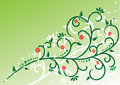 Free Green Background With Swirls And Flowers Royalty Free Stock Image - 7889686