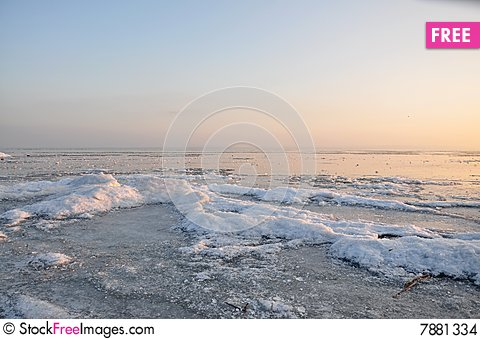 Freezing into ice. Stock Photo