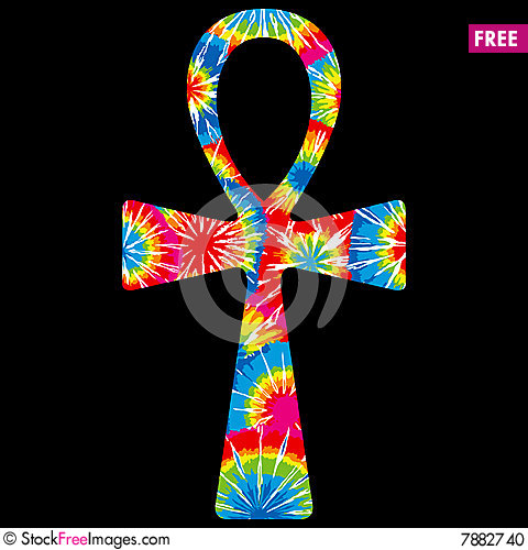 Free Tie Dyed Ankh Stock Photo - 7882740