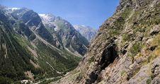 Free Summer Alpine Mountain Panorama Stock Photography - 7880362
