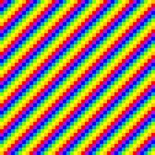 Seamless Pixel Rainbow Background Royalty Free Stock Image