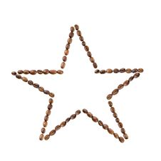 Free Star From Coffee Beans Isolated On White Royalty Free Stock Photography - 7880607