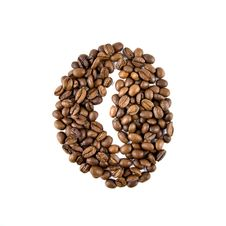 Free Coffee Bean From Beans Isolated On White Stock Photos - 7880703