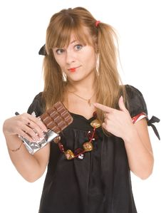 Free The Girl With Chocolate Royalty Free Stock Photo - 7881635