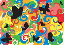 Free Multicoloured Background, Butterflies Stock Photography - 7882142