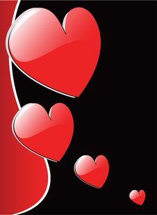 Free Vector Valentine S Hearts Stock Photography - 7882542