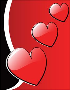 Free Vector Valentine S Hearts Royalty Free Stock Photography - 7882627