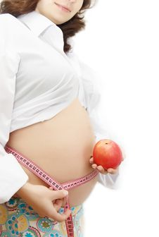 Healthy Food In Pregnancy Royalty Free Stock Images