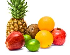 Free Group Of Fresh Fruits Royalty Free Stock Photo - 7883175