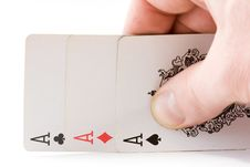Free Three Aces Stock Photography - 7883742