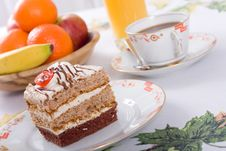 Free Sweet Cake And Coffee Stock Photography - 7884232