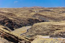 Free Endless Road Through Kuiseb Canyon Stock Photo - 7885370