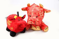 Free Chinese Lucky Oxen Royalty Free Stock Images - 7885569