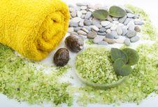 Free Grassy Salt And Towel Stock Photo - 7886320