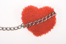Free Red Fluffy Heart In Chain Royalty Free Stock Photography - 7886377