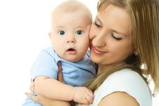 Free Mother With Her Baby Royalty Free Stock Photography - 7886387