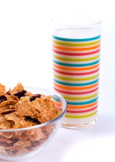 Free Cornflakes And Glass Of Milk Stock Photos - 7886583